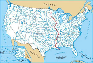 What is the longest river in the US Advanced American Geography